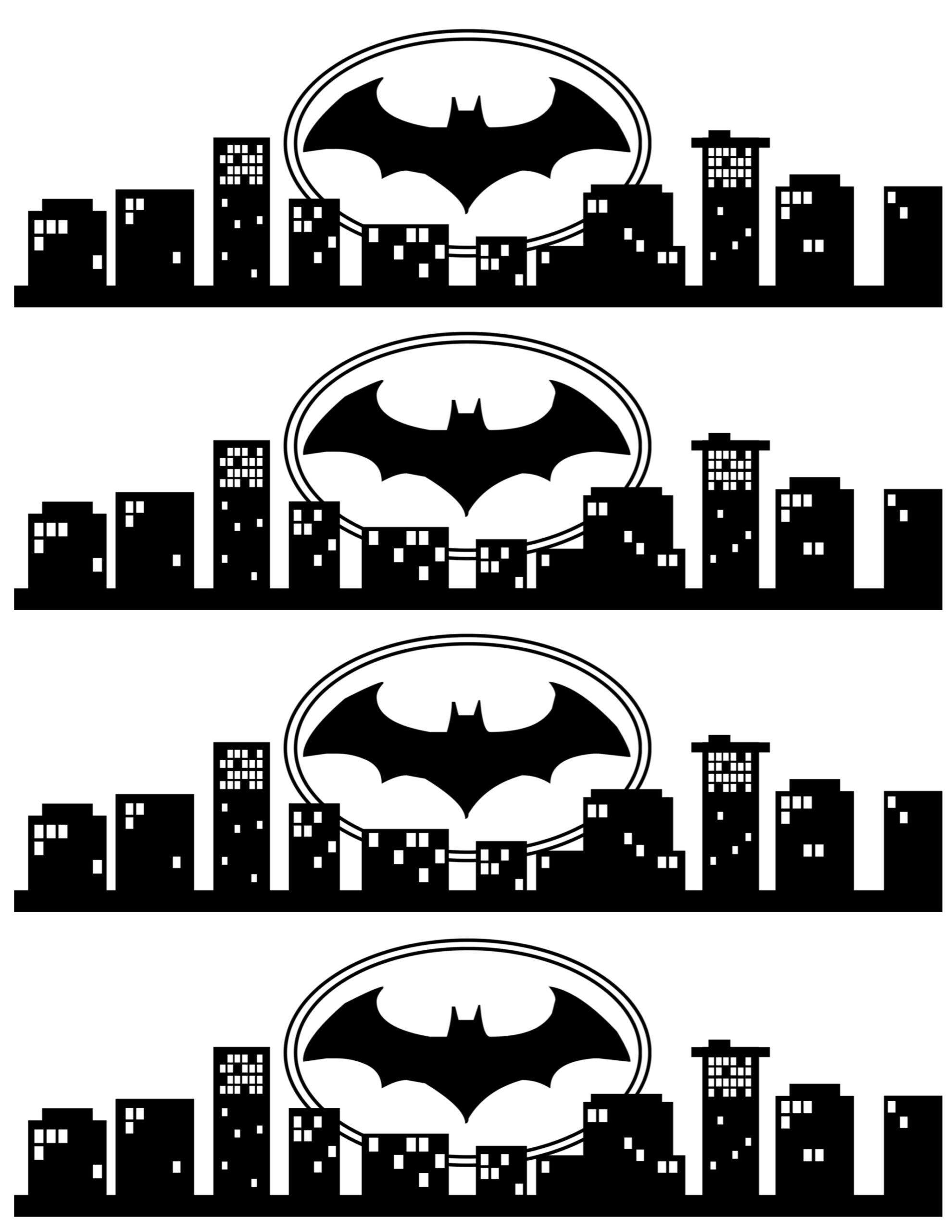 Batman Water Bottle Label Free Printable