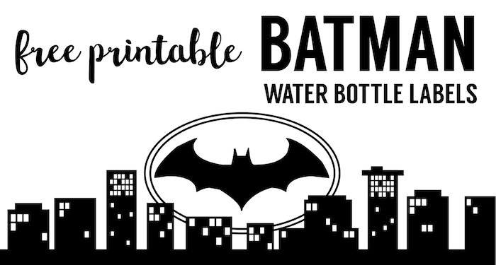 photo regarding Printable Bottle Labels identified as Batman H2o Bottle Label Totally free Printable - Paper Path Layout