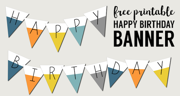 graphic regarding Printable Birthday Banners identified as Free of charge Printable Joyful Birthday Banner - Paper Path Design and style