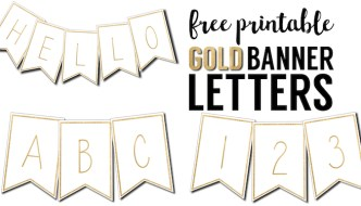 Free Printable Banner Letters Templates