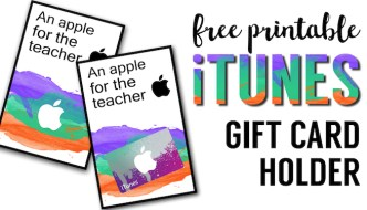 Apple Teacher Printable iTunes Gift Card Holder