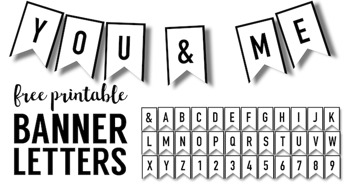 picture relating to Printable Banners called Banner Templates Totally free Printable ABC Letters - Paper Path Style and design