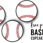 Baseball Cupcake Toppers Free Printable. Baseball or softball cupcake decorations for a baseball or softball birthday party, team party, or baby shower.