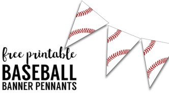 Free Printable Baseball Banner {baseball party decorations}
