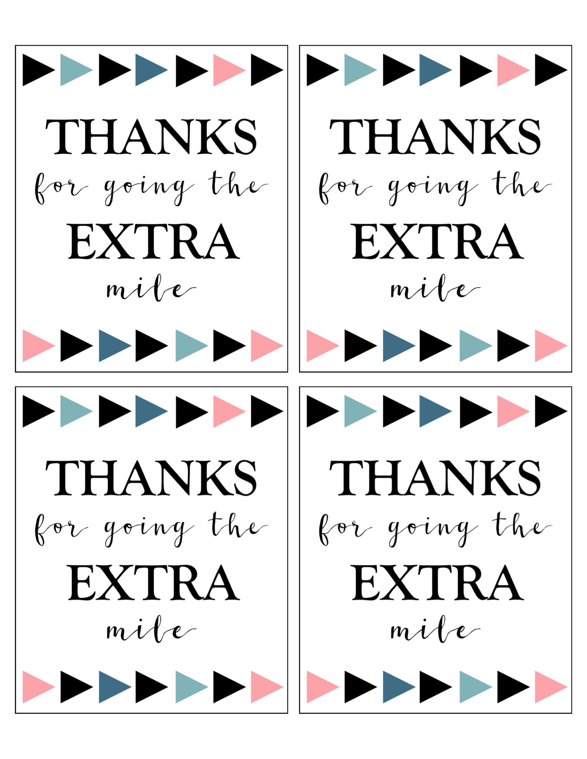 Extra Gum Thank You Printable - Paper Trail Design