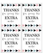 Priceless image with thanks for going the extra mile printable