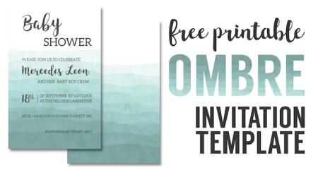 ombre invitation templates free printable wedding invitation template diy baby shower invitation template - Free Printable Wedding Invitation Templates