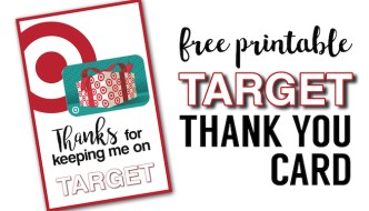 Target Thank You Cards Free Printable