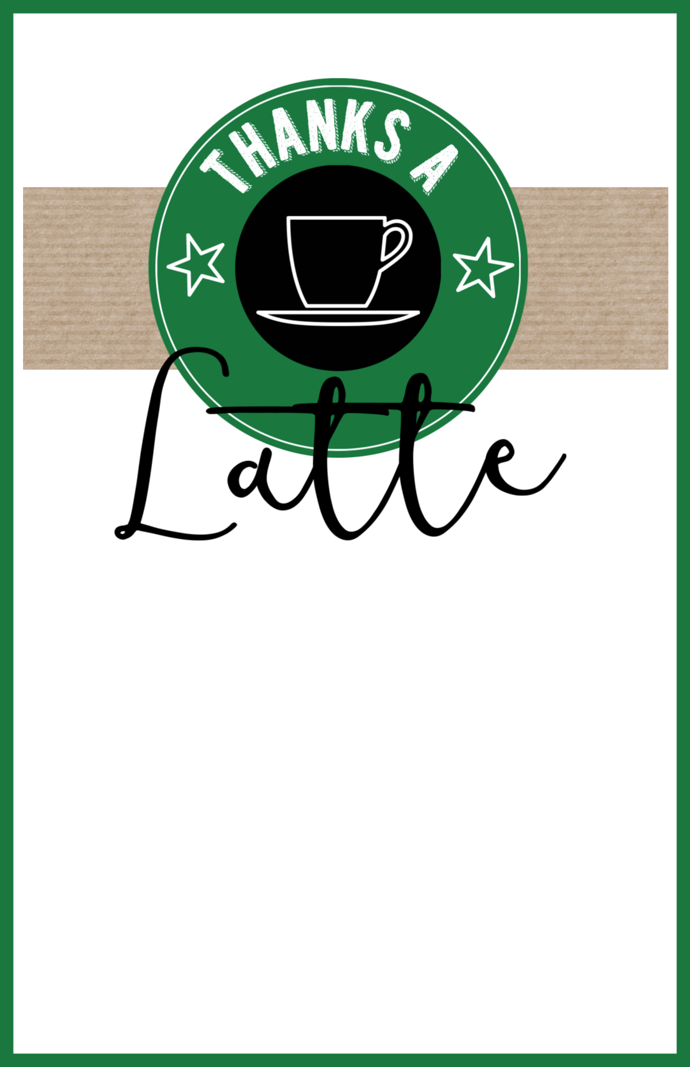 It is an image of Divine Thanks a Latte Christmas Printable