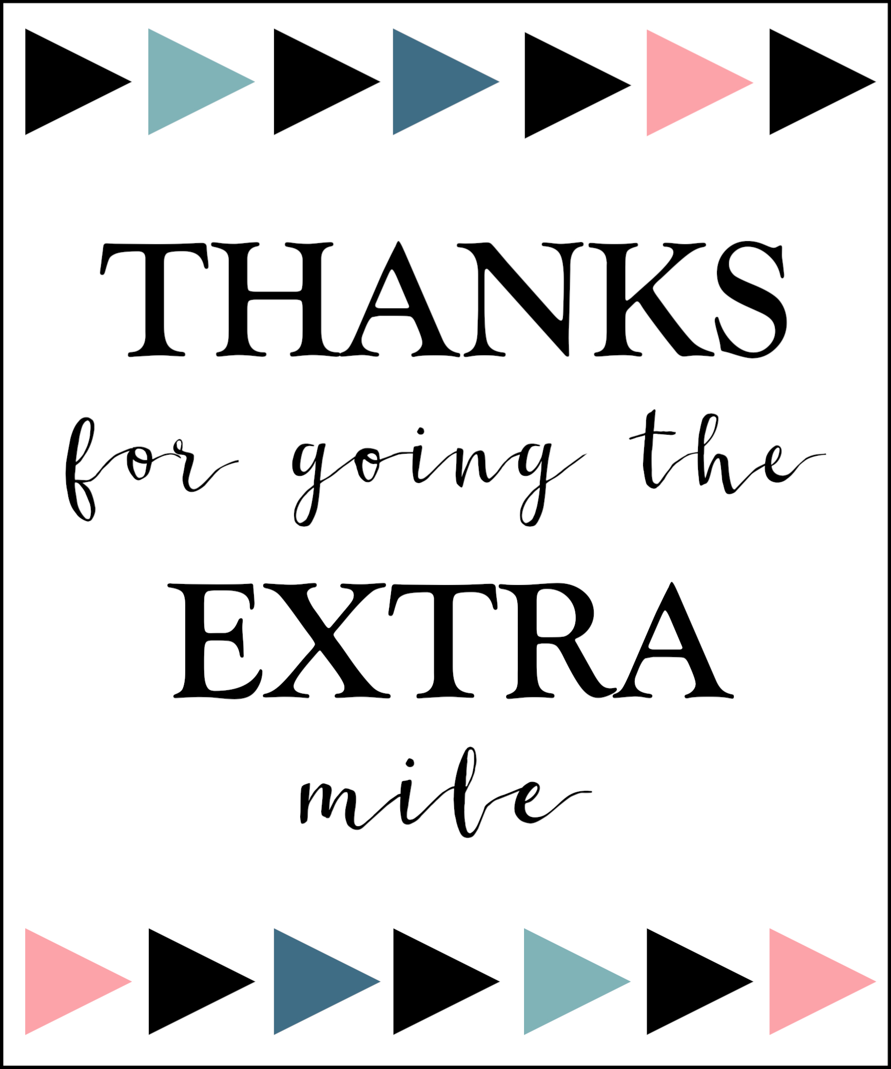 extra gum thank you printable