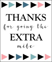Magic image in thanks for going the extra mile printable