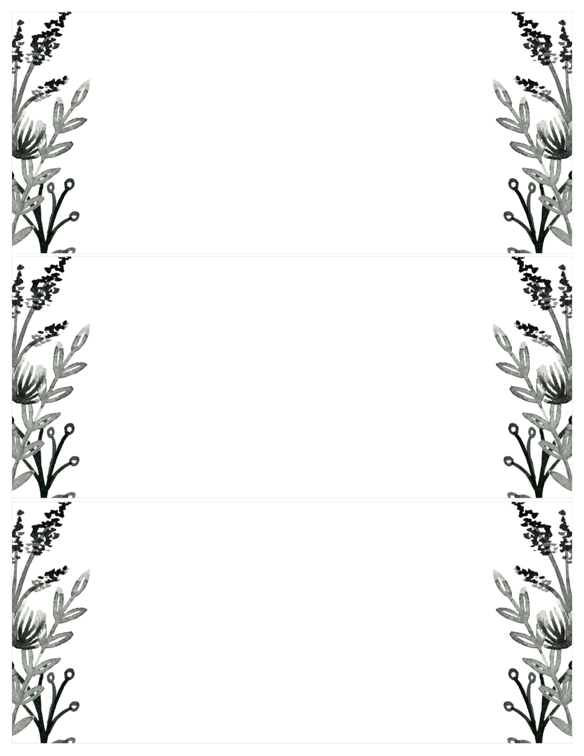 black white flowers invitations