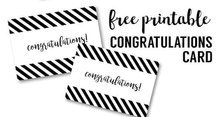 picture about Free Graduation Cards Printable referred to as Free of charge Printable Congratulations Card - Paper Path Style