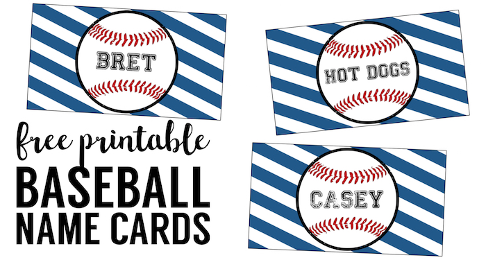 picture relating to Free Printable Name Cards referred to as Baseball Area Card Holders No cost Printable - Paper Path Style
