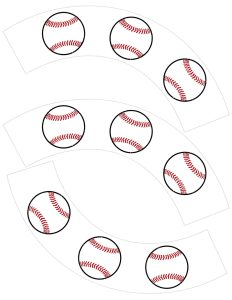 Baseball Cupcake Wrappers Free Printable. Easy DIY baseball cupcake wrappers for a baseball birthday party, baseball baby shower, baseball team party, or Father's Day.