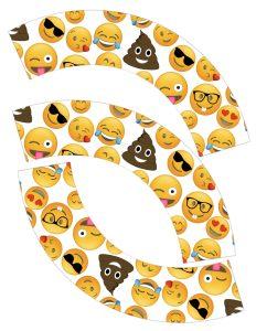 Emoji Cupcake Wrappers Free Printable. Emoji party printables for an emoji birthday party, emoji themed baby shower, bridal shower, or teen bedroom decorations.