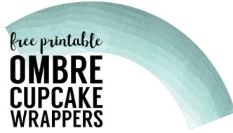 Free Printable Cupcake Wrapper Template {Ombre}