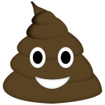 Handy image within free printable poop emoji