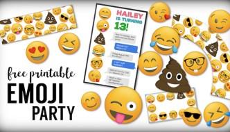 Emoji Free Printables {Emoji Birthday Party Supplies}. Emoji free printables. Emoji birthday printables, emoji party stuff, free printable emoji faces.