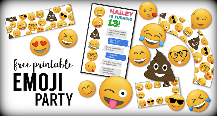 Emoji Free Printables Birthday