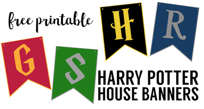 image relating to Gryffindor Crest Printable named Harry Potter Area Banners Totally free Printable - Paper Path Style and design