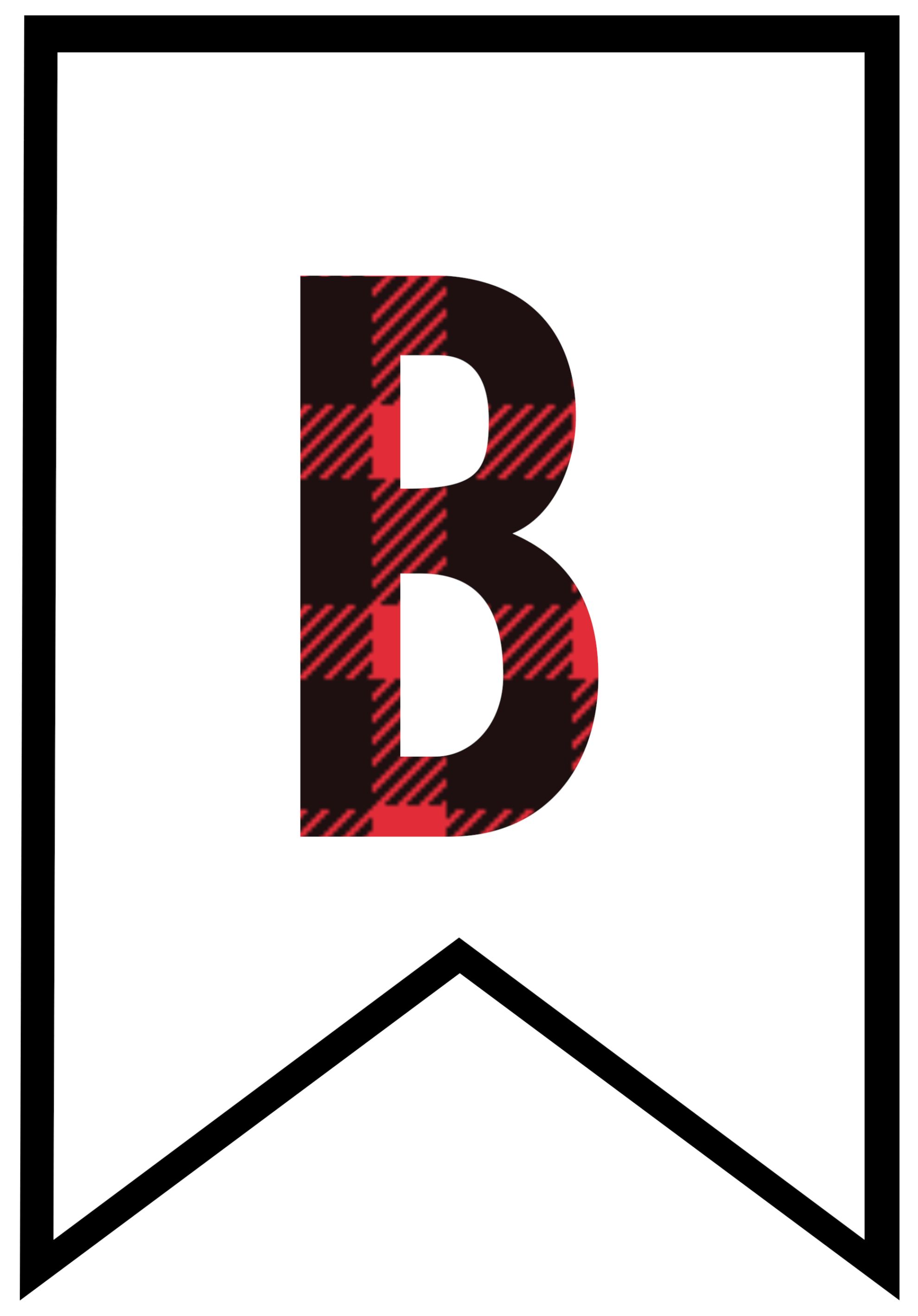 Buffalo Plaid Free Printable Banner Letters Paper Trail