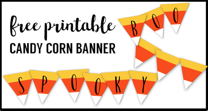 graphic about Printable Halloween Pictures known as Totally free Printable Halloween Banner Sweet Corn Letters - Paper