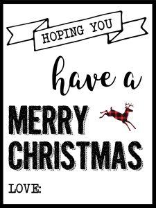 Christmas Labels Printable {Free Christmas Gift Tags Printable}. Merry Christmas gift tags with a buffalo check plaid flair for your holiday gift wrap.