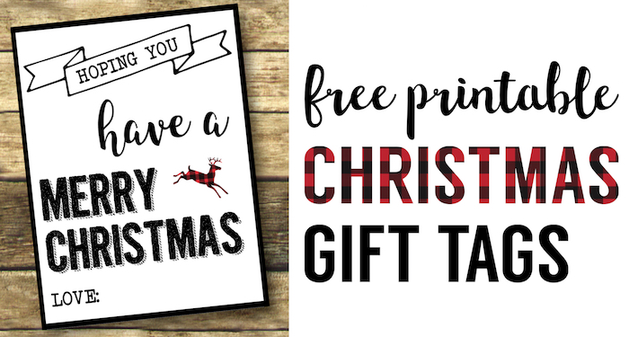 photograph about Gift Tags Printable Free called Xmas Labels Printable No cost Xmas Present Tags