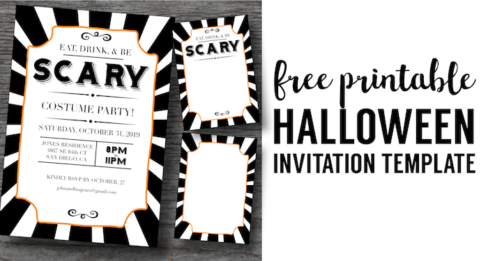 image relating to Free Printable Halloween Party Invitations named Halloween Invites Absolutely free Printable Template - Paper Path