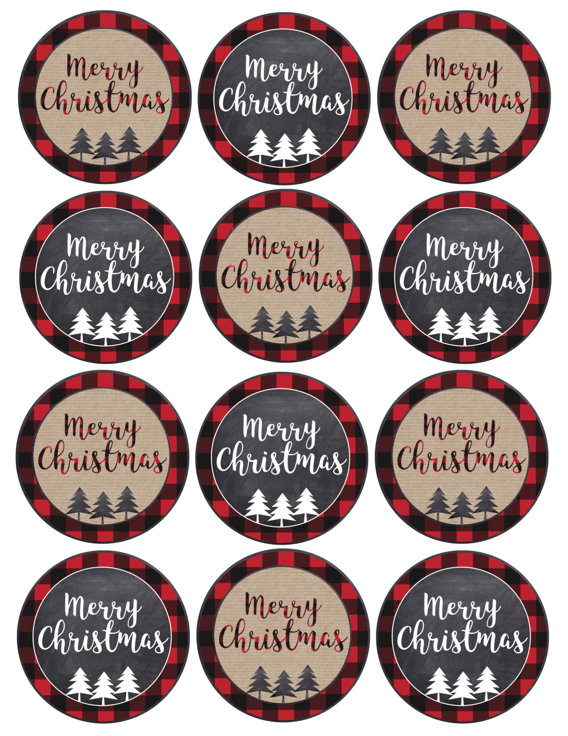Merry Christmas Tags Printable