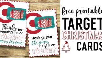 Target Christmas Gift Card Holders {Teachers, Friends, Neighbors}