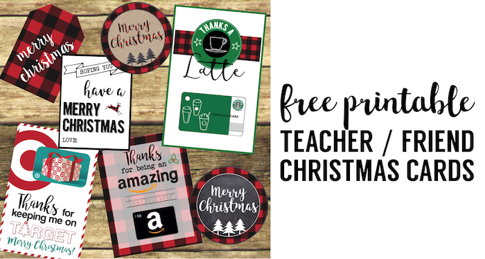 image relating to Printable Christmas Cards for Teachers known as Great Trainer Xmas Present Designs - Paper Path Layout