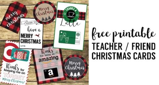 Best Teacher Christmas Gift Ideas. Easy DIY Christmas gifts for teachers, friends, and family. Easy cute Christmas gift card holders.