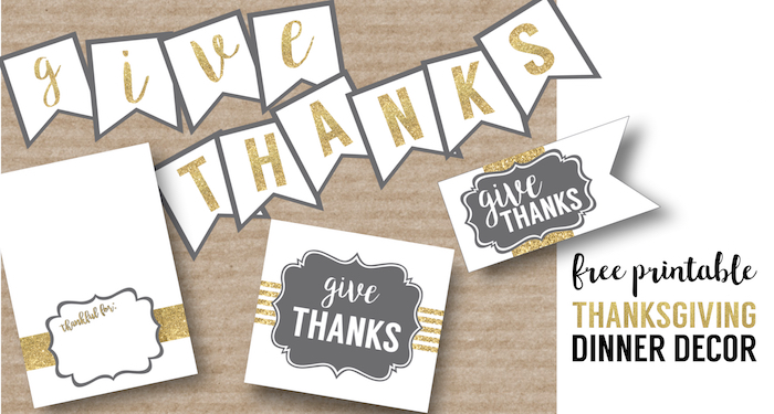 photograph about Printable Thanksgiving Banner called Totally free Printable Thanksgiving Fixed - Paper Path Layout