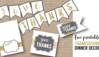 Free Printable Thanksgiving Set