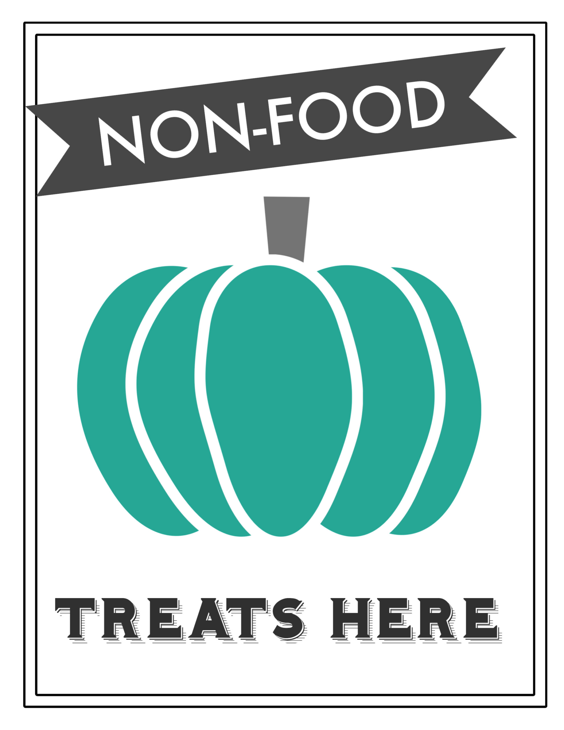 It's just a graphic of Clever Teal Pumpkin Printable