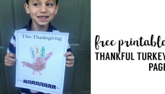 I am Thankful Printable Turkey Handprint Craft