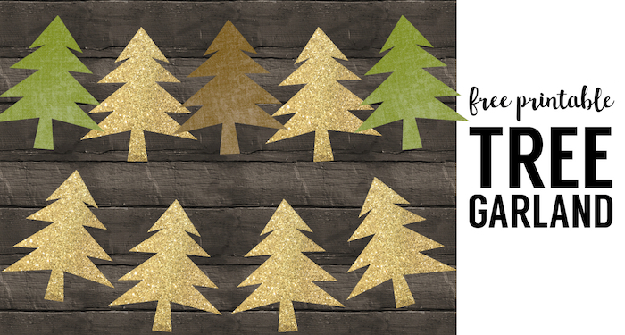 Woodland Tree Garland Free Printable Banner Paper Trail