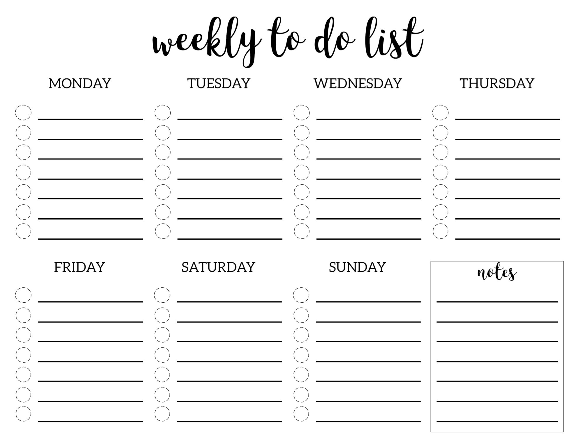 Office Daily Planning Worksheet