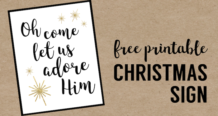 picture regarding Christmas Decor Printable named Oh Arrive Allow for Us Enjoy Him Printable Xmas Decor - Paper
