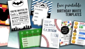 Birthday Invitations Free Printable Templates. Boy or girl kid birthday party invite downloads. 1st birthday and older kid birthday party ideas. #birthdayinvitations #birthdayparty #kidsbirthdaypartyideas