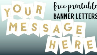 Gold Free Printable Banner Letters