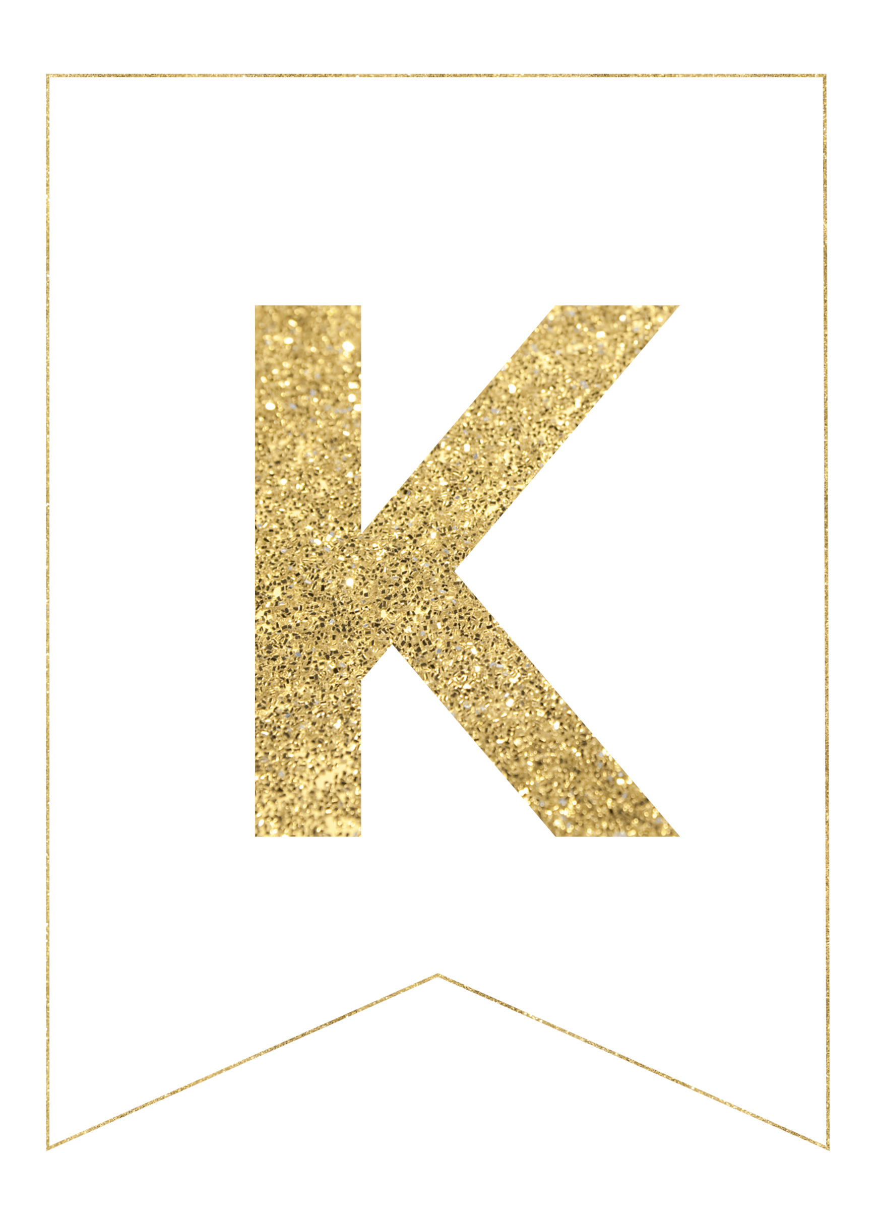photo regarding Printable Letters for Banner identified as Gold Absolutely free Printable Banner Letters - Paper Path Structure