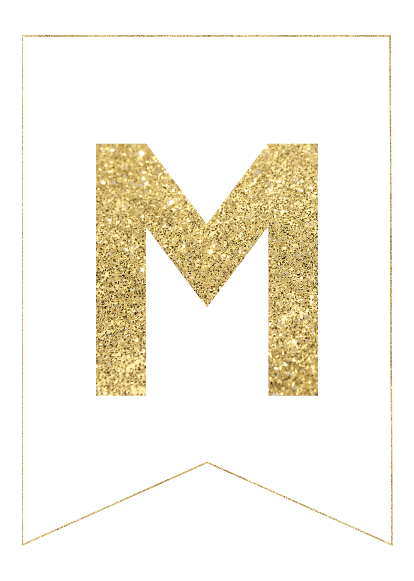 gold free printable banner letters paper trail design With gold banner letters