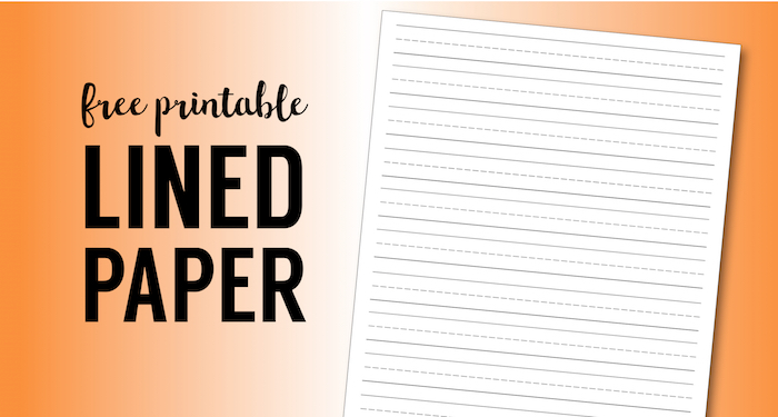 Free Printable Lined Paper {Handwriting Paper Template}  Free Lined Handwriting Paper