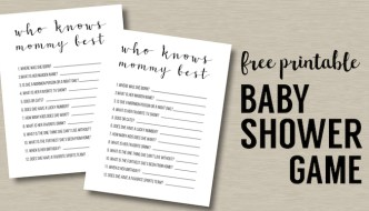 Baby Shower Games Free Printable {Who Knows Mommy Best}