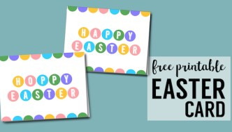 Happy Easter Cards Printable – Free
