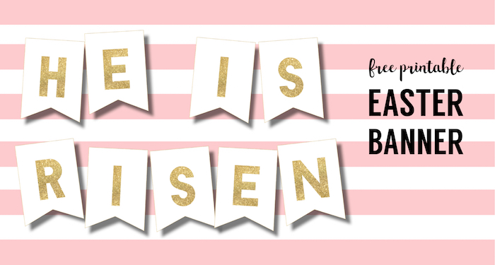 DIY Religious He is Risen Banner Free Printable - Paper ...