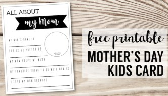 Mother's Day Gifts for Kids to Make {Fill in Cards}